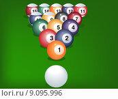 Купить «Pool game balls», фото № 9095996, снято 19 сентября 2019 г. (c) PantherMedia / Фотобанк Лори