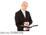Купить «man portrait business manager information», фото № 9099016, снято 16 декабря 2017 г. (c) PantherMedia / Фотобанк Лори