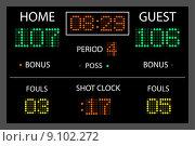 Купить «Image of a digital scoreboard.», фото № 9102272, снято 15 декабря 2018 г. (c) PantherMedia / Фотобанк Лори