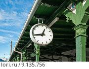 Купить «Antique Station Clock», фото № 9135756, снято 15 августа 2018 г. (c) PantherMedia / Фотобанк Лори