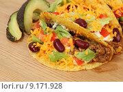 Купить «mexican mexico avocado taco tacos», фото № 9171928, снято 26 марта 2019 г. (c) PantherMedia / Фотобанк Лори
