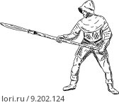Купить «knight with spear», фото № 9202124, снято 15 сентября 2019 г. (c) PantherMedia / Фотобанк Лори