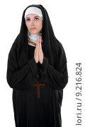 Купить «Praying Nun», фото № 9216824, снято 15 сентября 2019 г. (c) PantherMedia / Фотобанк Лори
