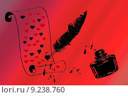 Купить «heart letter ink barrel hearts», фото № 9238760, снято 16 июля 2019 г. (c) PantherMedia / Фотобанк Лори