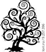 Купить «Stylized tree in bloom silhouette», иллюстрация № 9257396 (c) PantherMedia / Фотобанк Лори