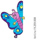 Купить «Lurking cartoon butterfly», иллюстрация № 9259008 (c) PantherMedia / Фотобанк Лори