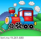 Купить «Steam locomotive on rails», иллюстрация № 9261680 (c) PantherMedia / Фотобанк Лори