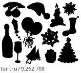 Купить «Christmas silhouette collection 03», иллюстрация № 9262708 (c) PantherMedia / Фотобанк Лори