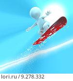 Купить «A snowboarder jumping very high», фото № 9278332, снято 17 июня 2019 г. (c) PantherMedia / Фотобанк Лори