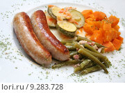 Купить «food vegetable sausage aliment frankfurters», фото № 9283728, снято 26 марта 2019 г. (c) PantherMedia / Фотобанк Лори