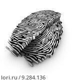 Купить «Cutting plane of a 3d fingerprint», фото № 9284136, снято 26 мая 2020 г. (c) PantherMedia / Фотобанк Лори