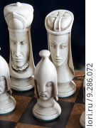 Купить «Beautiful chess pieces on a chess board», фото № 9286072, снято 3 августа 2020 г. (c) PantherMedia / Фотобанк Лори