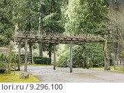 Купить «Trellis at Portland Japanese Garden», фото № 9296100, снято 22 сентября 2019 г. (c) PantherMedia / Фотобанк Лори