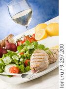 Grilled Tuna Steak with Salad. Стоковое фото, фотограф Francesco Dibartolo / PantherMedia / Фотобанк Лори