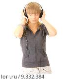 Купить «Listening to Music», фото № 9332384, снято 23 июля 2019 г. (c) PantherMedia / Фотобанк Лори