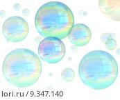 Купить «Illustration of many multicolored bubbles floating in the air», фото № 9347140, снято 22 июля 2019 г. (c) PantherMedia / Фотобанк Лори