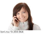 Купить «Woman is calling with a mobilephone», фото № 9359964, снято 25 марта 2019 г. (c) PantherMedia / Фотобанк Лори