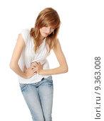 Купить «Teen woman with stomach issues», фото № 9363008, снято 26 марта 2019 г. (c) PantherMedia / Фотобанк Лори