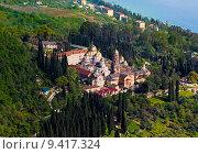 Купить «Новый Афон, православный монастырь, Абхазия», фото № 9417324, снято 3 мая 2015 г. (c) Михаил Кочиев / Фотобанк Лори