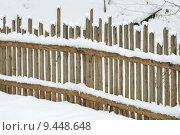 Купить «park winter garden snow fence», фото № 9448648, снято 23 марта 2019 г. (c) PantherMedia / Фотобанк Лори