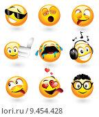 Купить «Various emoticons», фото № 9454428, снято 23 марта 2019 г. (c) PantherMedia / Фотобанк Лори