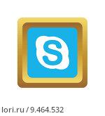 Skype social icon. Редакционная иллюстрация, иллюстратор Иван Рябоконь / Фотобанк Лори