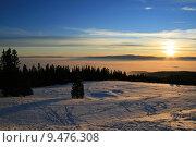 Купить «sky sunset weather alps fog», фото № 9476308, снято 17 июля 2019 г. (c) PantherMedia / Фотобанк Лори