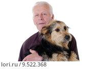 Купить «studio senior dog grandfather pensioner», фото № 9522368, снято 21 июня 2018 г. (c) PantherMedia / Фотобанк Лори