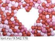 Купить «Valentine Candy Heart Frame», фото № 9542176, снято 10 декабря 2018 г. (c) PantherMedia / Фотобанк Лори
