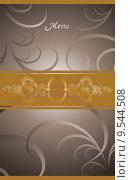 Купить «victorian menu cover design», иллюстрация № 9544508 (c) PantherMedia / Фотобанк Лори
