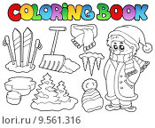 Купить «Coloring book winter topic 3», иллюстрация № 9561316 (c) PantherMedia / Фотобанк Лори