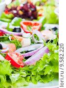 Купить «fresh salad», фото № 9582220, снято 15 декабря 2018 г. (c) PantherMedia / Фотобанк Лори