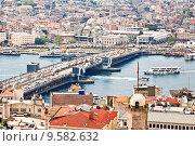 Купить «Панорама Стамбула с Галатской башни», фото № 9582632, снято 15 мая 2015 г. (c) Наталья Волкова / Фотобанк Лори