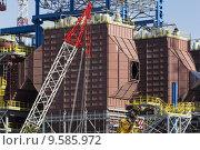 Купить «Incinerator building site in Gerbido, Turin», фото № 9585972, снято 26 апреля 2019 г. (c) PantherMedia / Фотобанк Лори