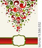 Купить «Ornate christmas gift card backgound», иллюстрация № 9586032 (c) PantherMedia / Фотобанк Лори