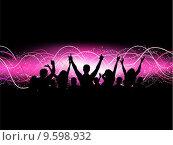 Купить «Party crowd», иллюстрация № 9598932 (c) PantherMedia / Фотобанк Лори