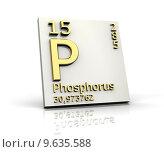 Купить «Phosphorus form Periodic Table of Elements », фото № 9635588, снято 26 апреля 2019 г. (c) PantherMedia / Фотобанк Лори