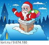 Winter scene with Christmas theme 4. Стоковая иллюстрация, иллюстратор Klara Viskova / PantherMedia / Фотобанк Лори