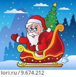 Winter scene with Christmas theme 3. Стоковая иллюстрация, иллюстратор Klara Viskova / PantherMedia / Фотобанк Лори