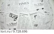 Купить «Фон из иностранных известных новостных газет», видеоролик № 9728696, снято 21 июня 2015 г. (c) Кекяляйнен Андрей / Фотобанк Лори