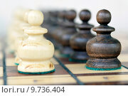 Купить «Шахматы. Пешки.», фото № 9736404, снято 15 августа 2015 г. (c) Сергеев Валерий / Фотобанк Лори
