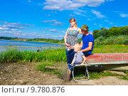 Купить «Семья на рыбалке», фото № 9780876, снято 15 августа 2015 г. (c) Зобков Георгий / Фотобанк Лори