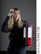 Купить «woman portrait blond career ro», фото № 9849748, снято 22 июля 2019 г. (c) PantherMedia / Фотобанк Лори