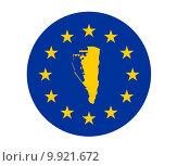 Купить «Gibraltar European flag», фото № 9921672, снято 21 февраля 2019 г. (c) PantherMedia / Фотобанк Лори