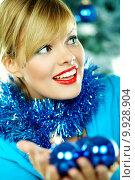 Beautiful Blue Christmas. Стоковое фото, фотограф Daniel Sroga / PantherMedia / Фотобанк Лори