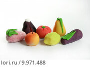 Купить «Variety of fruits on colorful marzipan», фото № 9971488, снято 17 февраля 2019 г. (c) PantherMedia / Фотобанк Лори