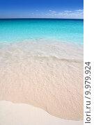 Купить «Caribbean sea turquoise white sand beach», фото № 9979924, снято 25 июня 2019 г. (c) PantherMedia / Фотобанк Лори