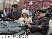 Купить «Празднование 7 ноября на Красной площади. Москва», фото № 10019356, снято 7 ноября 2013 г. (c) Free Wind / Фотобанк Лори