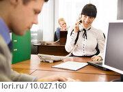 Купить «Busy working», фото № 10027160, снято 23 сентября 2018 г. (c) PantherMedia / Фотобанк Лори
