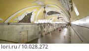 Купить «Станция метро Комсомольская (Кольцевая линия) в Москве, Россия», фото № 10028272, снято 6 июня 2015 г. (c) Владимир Журавлев / Фотобанк Лори